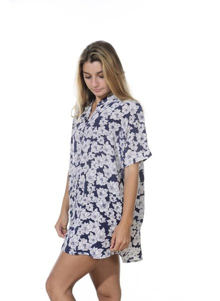 Acacia Mombasa Shirt Dress Blue Magnolia