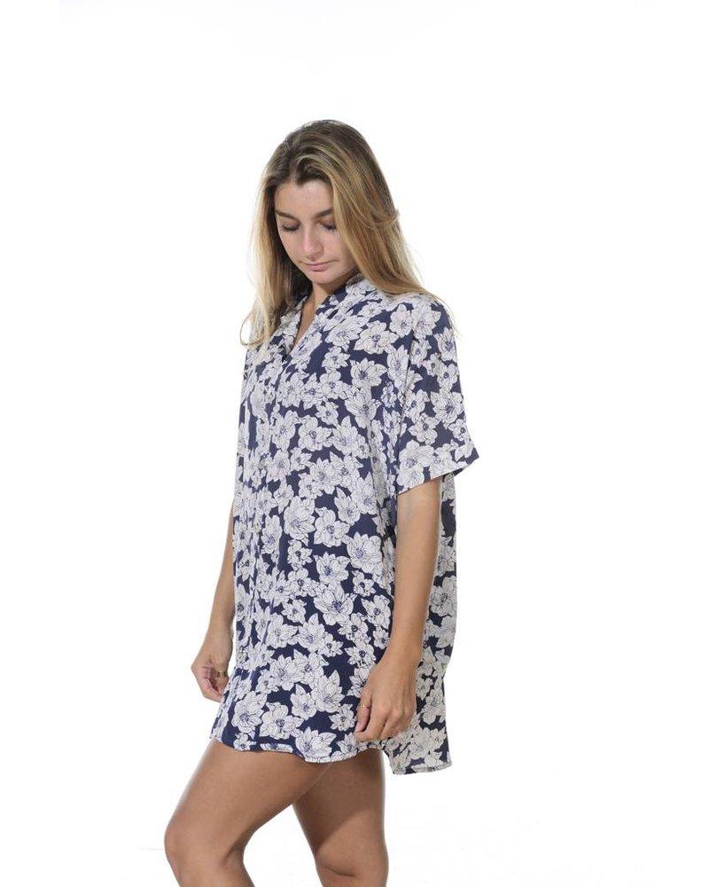 Acacia Mombasa Shirt Dress Blue Magnolia