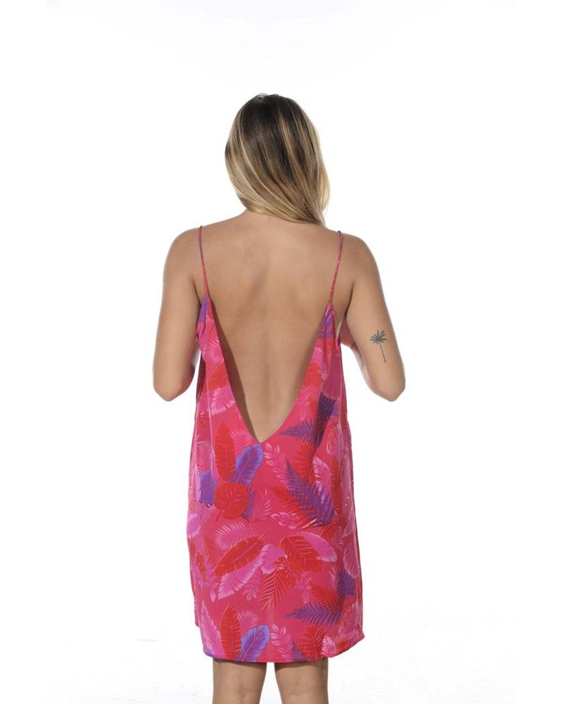 Acacia Flores Dress Psychedelic Leaf