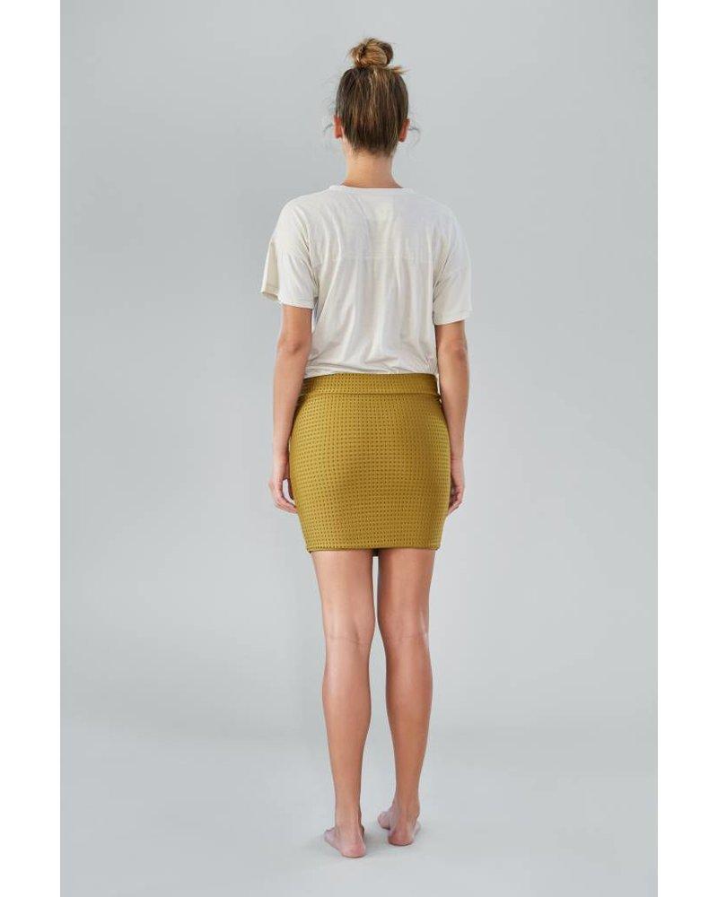 Acacia Paia Skirt Mesh Mustard