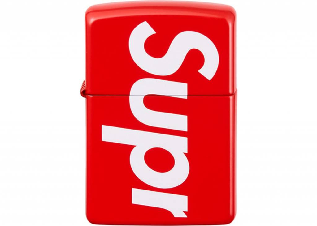 supreme logo zippo lighter (red)