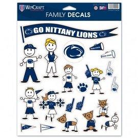 WinCraft, Inc. Family Decal Sheet