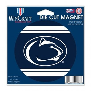 "WinCraft, Inc. Die Cut Magnet 4.5"" x 6"" Round w/ Stripes"