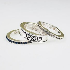 Seasons Jewelry Penn State Trio Ring Set