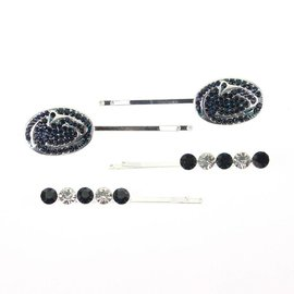 Seasons Jewelry Penn State Crystal Hair Clips