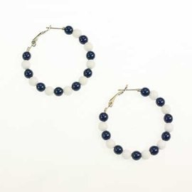 Seasons Jewelry Penn State Colorbead Hoop Earrings