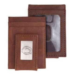 Eagles Wings Penn State Genuine Leather Wallet with Money Clip