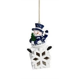 Evergreen Enterprises Penn State Snowman LED Ornament