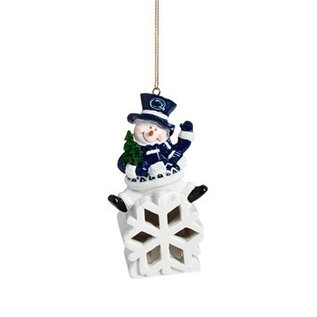 Evergreen Enterprises Penn State Snowman LED Ornament