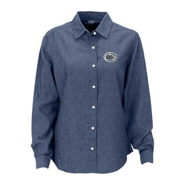 Vantage Penn State Long Sleeve Denim Button Down