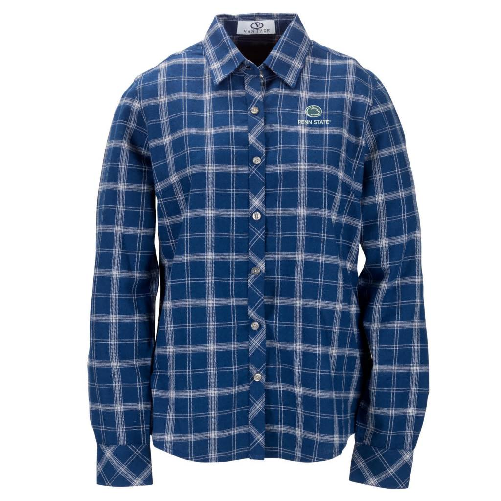 Vantage Penn State Women 39 S Flannel Shirt Old State