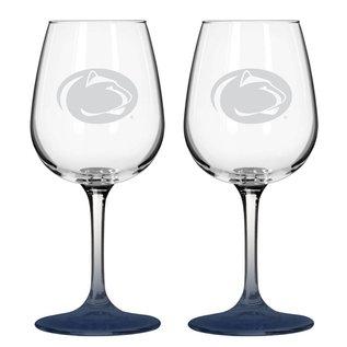 Wine Glass- Blue Stem