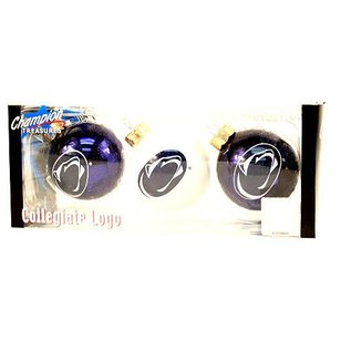 3 Pack Round Glass Ornaments