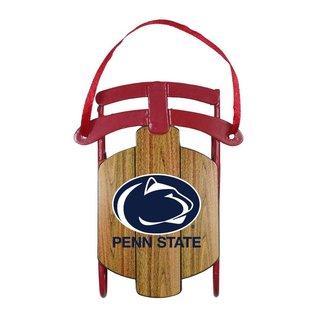 PSU Metal Sled Ornament