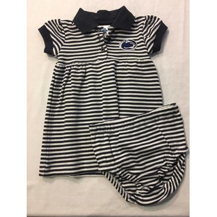 Creative Knitwear Stripe Dress with Bloomers