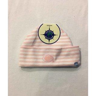 Creative Knitwear Stripe Newborn Hat Pink/White