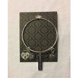 From The Heart Enterprises., Inc. 3 Charm Bangle Bracelet
