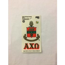 Dwellings Sorority Crest Decal ACO