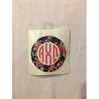 Dwellings Floral Monogram Sticker ACO