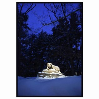 JMB Signs Nittany Lion Winter Evening