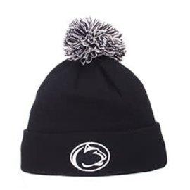 Zephyr Penn State Pom Pom Knit Hat Navy