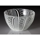 "Frost Glass Handblown ""Laced"" Glass Bowl"