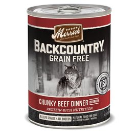 Merrick Merrick Backcountry Wet Dog Food Chunky Can