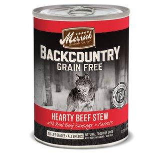 Merrick Merrick Backcountry Wet Dog Food Stew Case