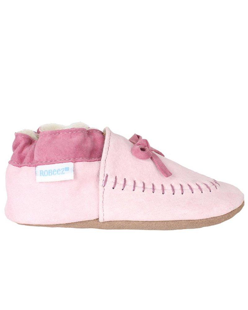Robeez Robeez Cozy Moccasin Soft Soles - Pink Suede