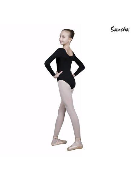 Sansha Sansha 'LONG' Sleeve Leotard - Black