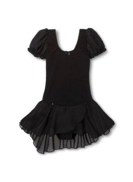 Danshuz Danz N Motion  'PUFF' Sleeve Dress with Bow Trim  -  Blue & Black