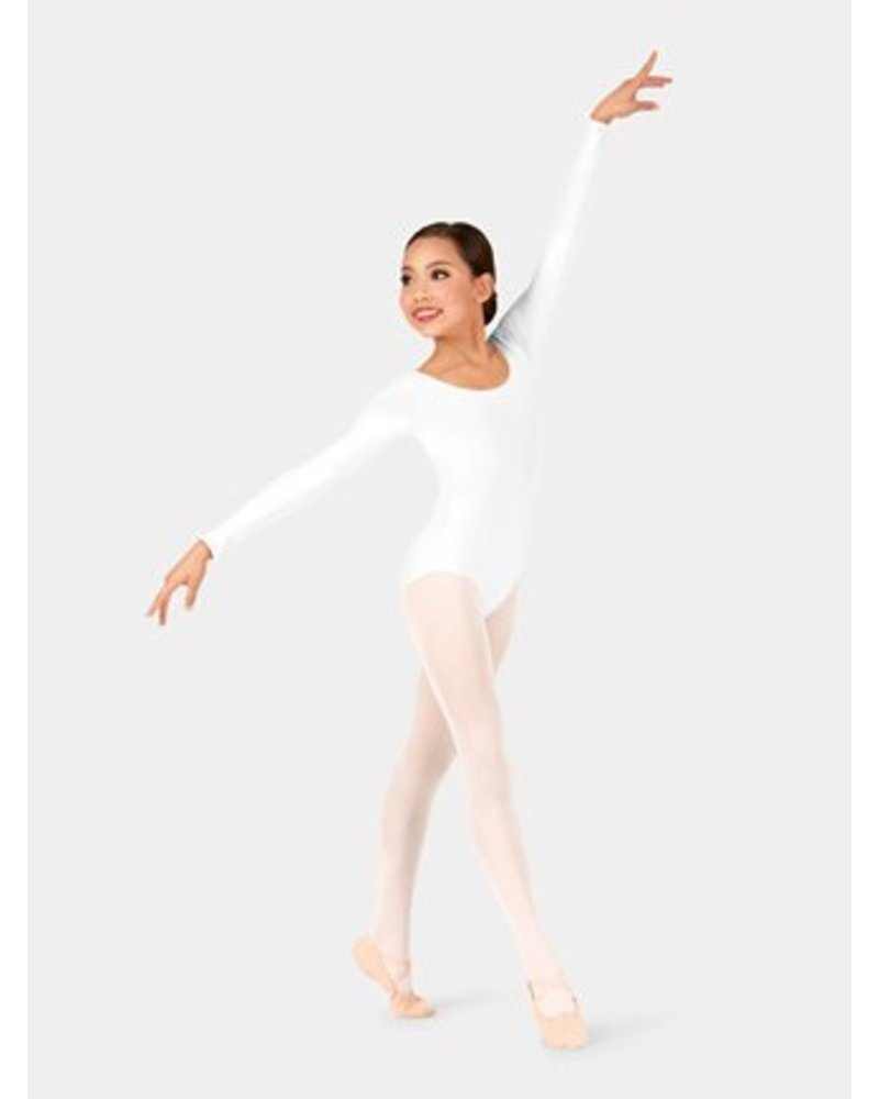 Danshuz Danz N Motion - LONG Sleeve Leotard - White