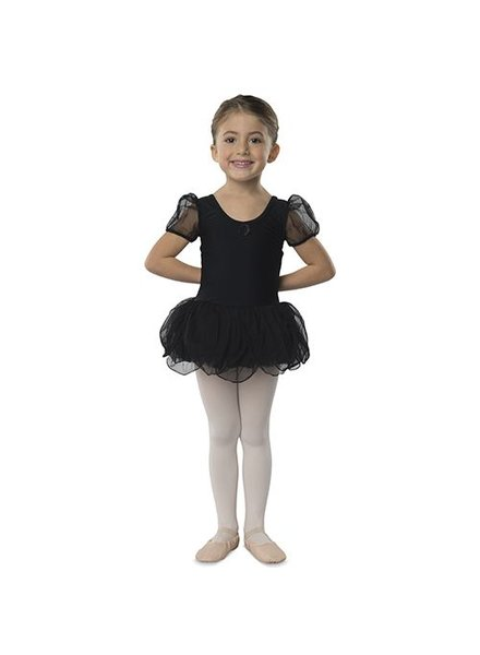 Danshuz Dance N Motion 'Puff' Sleeve Dress - Black