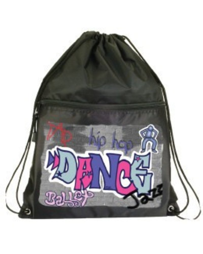 Danshuz Danz N Motion Graffiti Drawstring Backpack