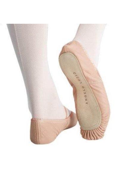 Angelo Luzio Angelo Luzio Tiler Full Sole Leather Pleated Ballet Slipper - Pink