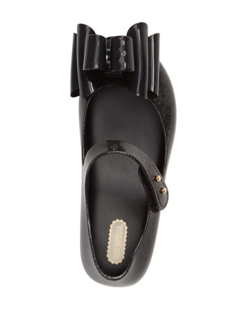 Mini Melissa Ultragirl Sweet III BB- Black Glitter