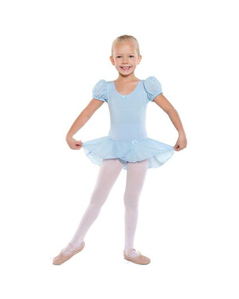 Danshuz Danz N Motion  'PUFF' Sleeve Dress with Bow Trim - Black & Blue