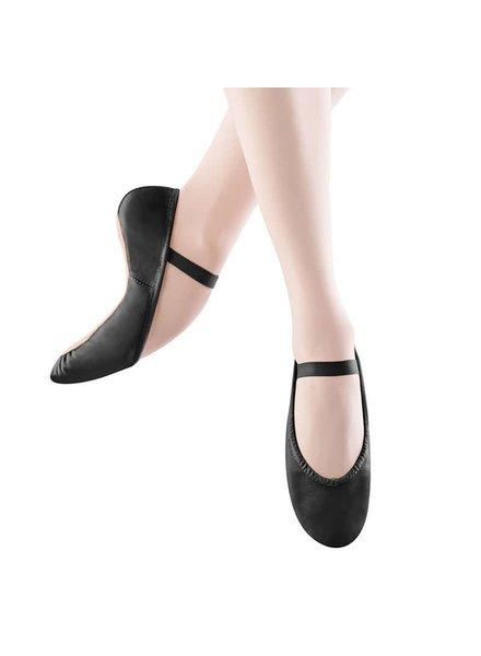 Angelo Luzio Angelo Luzio Tiler Full Sole Leather Pleated Ballet Slipper - Black