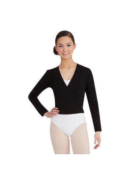 Sansha Sansha 'DAISY' Knit Wrap Sweater - Black & Pink