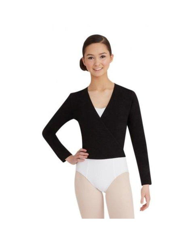 Sansha Sansha DAISY Knit Wrap Sweater - Black