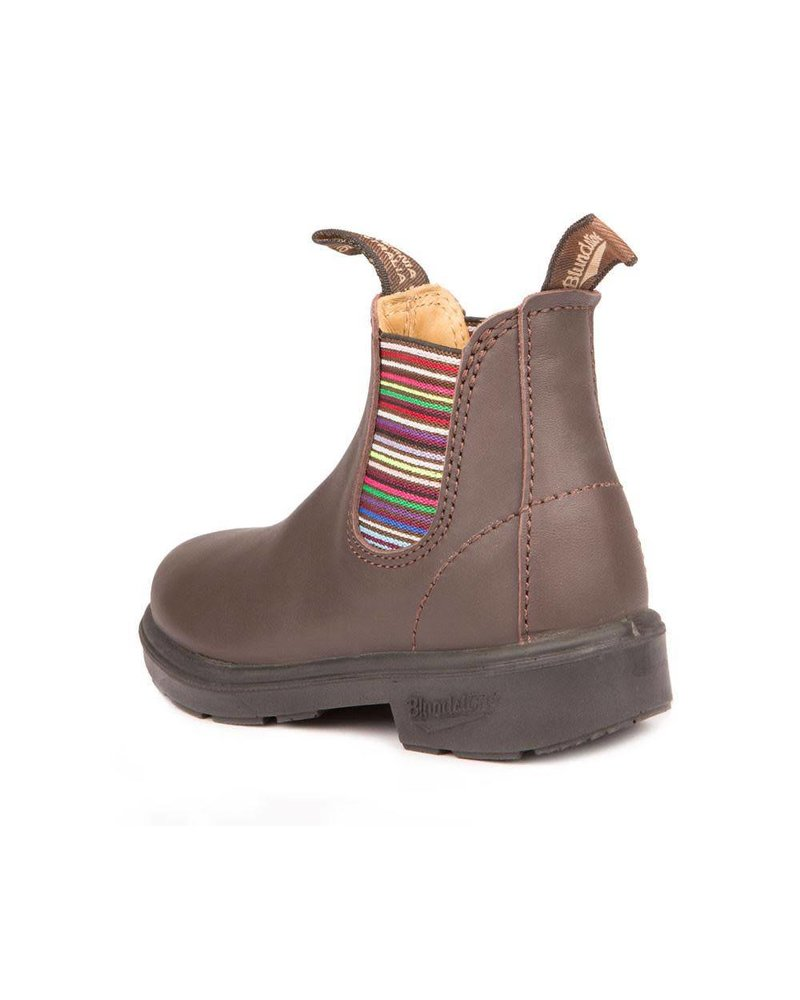 Blundstone Blundstone 1413 - Brown with Striped Elastic