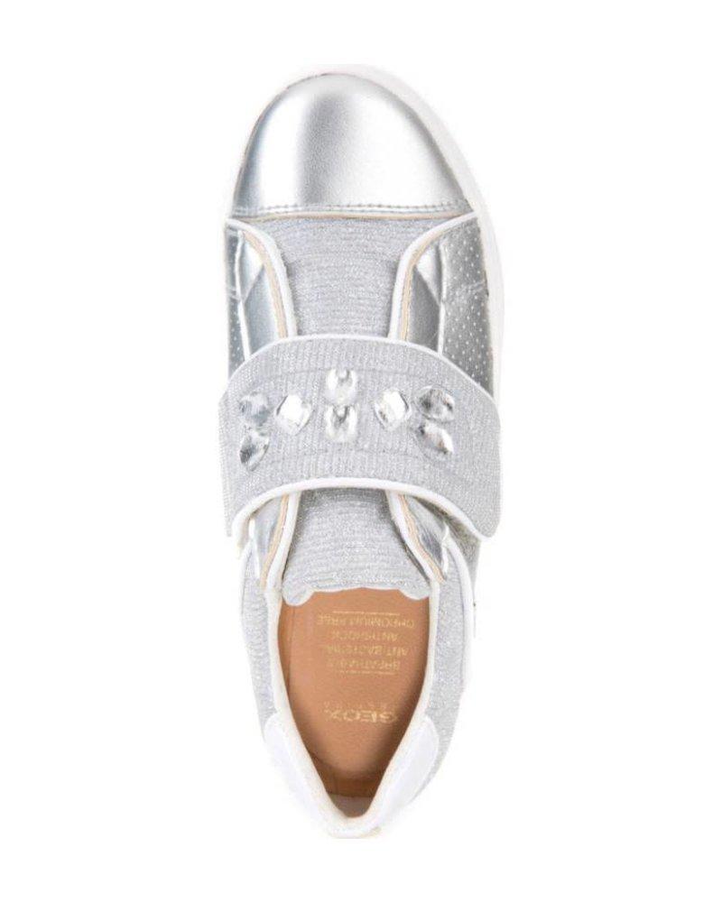 GEOX Geox KILWI - Metallic Embellished Sneaker - Silver