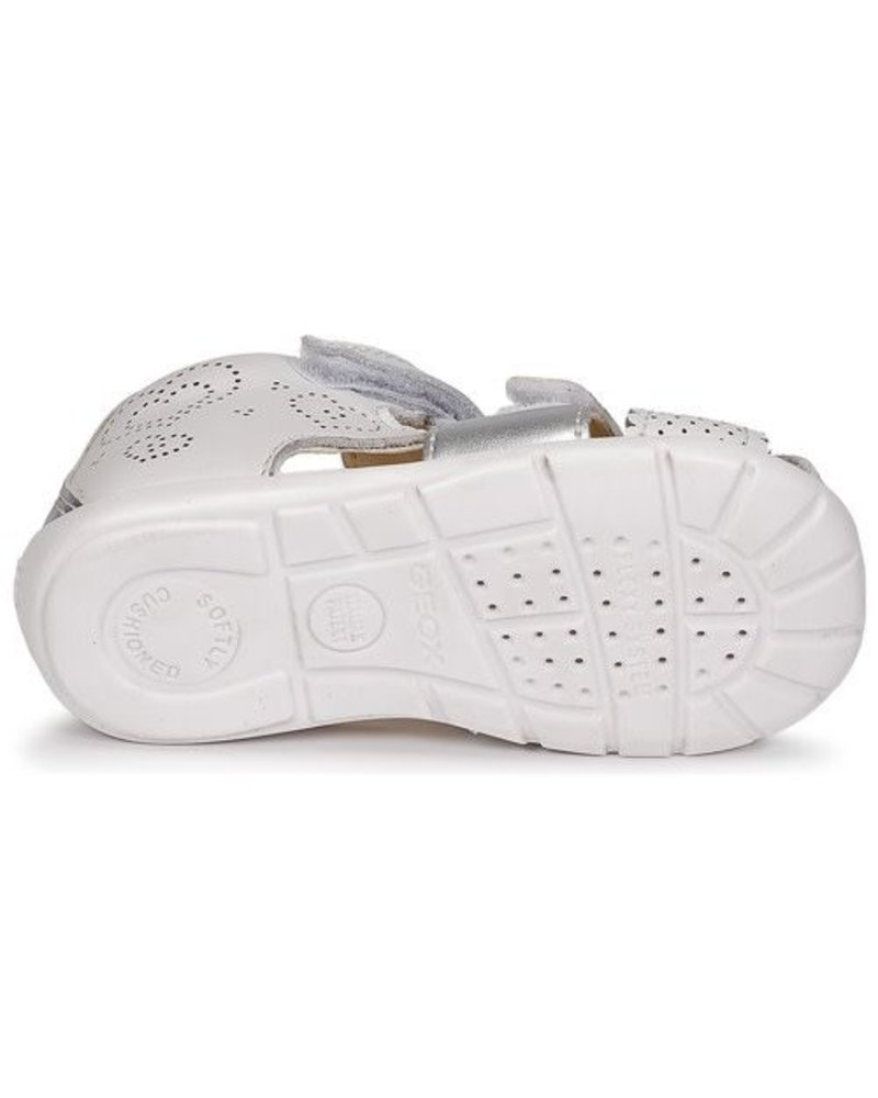 GEOX Geox B Kaytan Sandals - White/Silver