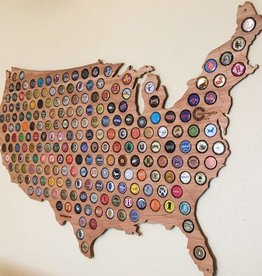 Beer Cap Maps USA Map