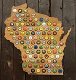 Beer Cap Maps Wisconsin Map