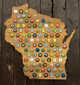 Beer Cap Maps Wisconsin Map