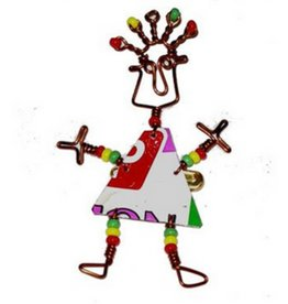 Global Crafts Tin Can Body Dancing Girl Pin
