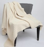 Green 3 Apparel Natural Cotton Textured Blanket - Natural