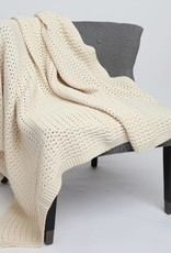 Green 3 Apparel Natural Cotton Textured Blanket - Natural