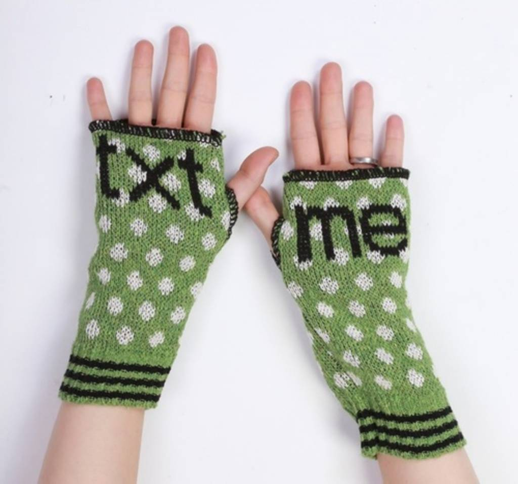 Green 3 Apparel Text Me Handwarmers